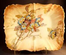 Antique Doulton Burslem England Art Pottery Tray w/Colorful Flowers! Wow