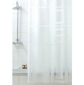 Shower Curtain Bathroom Mold Waterproof Hooks Items Made IN Italy Modern