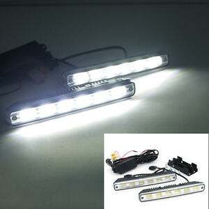 2x 6LED Car Driving Light Fog Lamp Headlight for SUV Truck + Bracket and Harness