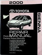 2000 Toyota Sienna Van Factory Service Manual Original Shop Repair