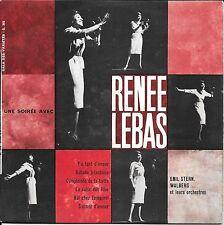 33 TOURS 1/3 TOURS 6 TITRES--RENEE LEBAS--UNE SOIREE AVEC RENEE LEBAS