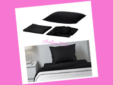 IKEA DVALA Twin Sheet Set / Black Bedding Set 100% Cotton 902.110.60
