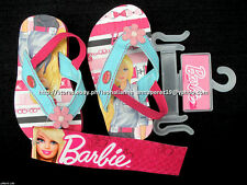 50% OFF! AUTH BARBIE BABY STRAPPY FLIP FLOPS SANDALS SHOES SIZE 4 / 1-2 YO BNWT