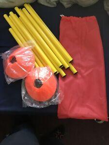 Set of Agility Speed Training Cones Poles Sports Equipment Fitness Hurdles TTS