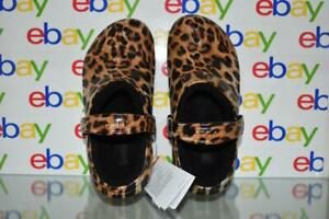 Crocs Classic Lined Animal Print Clogs for Ladies Leopard/Black 206559-95K NWT