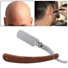 Stainless Steel Barber Straight Edge Cut Throat Hair Shaving Folding Knife Razor