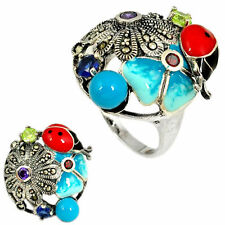 Turquoise Beauty Costume Rings