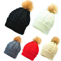 Newborn Children Warm Hats Cute Winter Kids Baby Hats Knitted Wool Crochet Hat