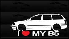 I Heart My B5 Passat Sticker Love VW Volkswagen Slammed Euro Germany Wagon
