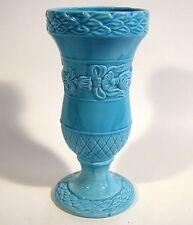 Bassano Design Italy Vase Blumenvase hellblau Keramik Majolika H. 25 cm