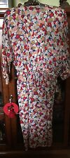 Valentino Boutique Miss V  Silk Floral Print Dress Sz 12 1970's