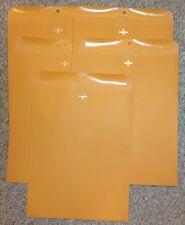 Five (5) Kraft Manila Envelopes 12 x 15.5 Shipping Catalog Yellow Clasp