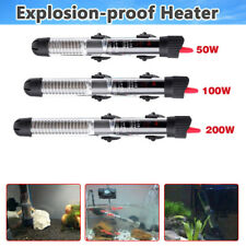 50-200 Watts Aquarium Fish Tank Water Heater Adjustable Submersible Thermostat