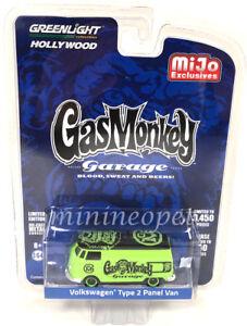GREENLIGHT 51148 B GAS MONKEY GARAGE VW VOLKSWAGEN TYPE 2 PANEL VAN 1/64 GREEN