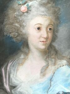 18th Century Pastel Portrait of a Young Woman ~ Swedish