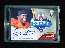 CAM NEWTON 2011 TOPPS ROOKIE RISING NFL DRAFT PATCH AUTO JERSEY NUMBER RC # 1/10