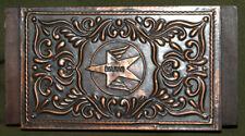 Vintage hand made copper/wood trinket box
