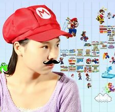 Super Mario Brothers Mario Red Hat Cosplay Adult Size US Seller