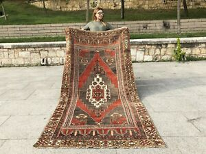 ANATOLIAN Turkish Antique NATURAL Lowpile Distressed Oushak Tribal UNIQUE RUG