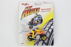 Vintage Maisto Motorcycle Toy KAWASAKI Flip Rider Collection Rare 3'' Friction