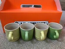 LE Creuset Espresso Coffee Cups  Set 4 x Yellow & Green NEW