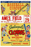 Negro League Advertisment Poster Indianapolis Clowns Color Reprint 8 X 12 Photo