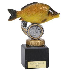 Fishing Trophy on marble base - Chubb or Carp -  Free Engraving - 3 sizes