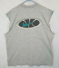 Vtg USA made Nike Basketball sleeveless Gray t-shirt Tag Sz LARGE