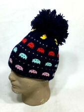 1981 Vintage Pac-Man Beanie Knit PomPom Hat Winter One Size Adult FREESHIP