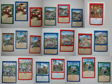 Stoffkalender mittel 2021 Stoffwandkalender Textilkalender mit Stab 33x53cm