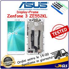 TOUCH SCREEN + LCD DISPLAY FRAME Per ASUS ZENFONE 3 ZE552KL Z012S Z012DE BIANCO