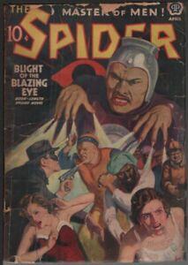 Spider 1939 April.     Pulp