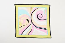 Emilio Pucci Light Green Multicolor Abstract Printed Scarf