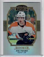 2019-20 UD Stature Joel Farabee portrait Rookie #114  52 of 85 Flyers SP RC!!