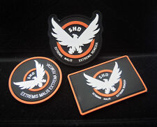 3PCS DIVISION SHD RUBBER 3D PVC BADGE PATCH Aufnäher TV-AIRSOFT -MOVIE -COSPLAY
