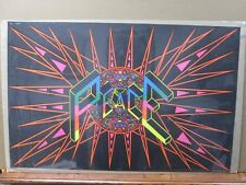 Psychedelic Black Light Poster 1960's Peace explosion Inv#G1092