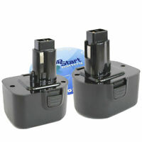 2-Pack DeWalt DW9072 Battery (12V, NICD, 1300mAh)