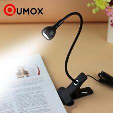 Qumox LED Klemmleuchte Leselampe Tischlampe Buch Lampe Licht Buchlampe Light Jul