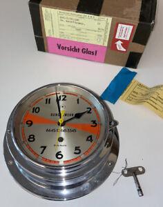 BÜRK NAUTIK Schiffsuhr Funkuhr historisch Ship Clock U23