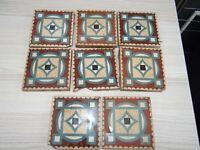 Antike Fliesen Mosaikplatten 8 Stück aus Sinzig mit Mörtelresten