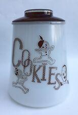 Vintage Bartlett Collins Brown Gingerbread Man Glass Cookie Jar