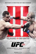 UFC 166 Cain Velasquez vs Junior Dos Santos III Sports Poster 12x18