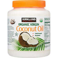 Kirkland Organic Virgin Coconut Oil Unrefined Cold Pressed Chemical Free 84 oz