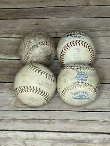 Lot of 4 Used Softballs Dudley, Macgregor