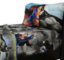 3pc BATMAN VS SUPERMAN TWIN SHEET SET DC Comics Crime Punishment Heroes Bedding