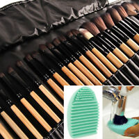 32Pcs Makeup Brushes Professional Cosmetic Make Up Brush Set Kit + Brush Cleaner