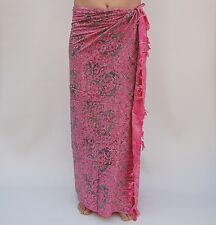NEW EXTRA LARGE LONG PREMIUM QUALITY GECKO PINK SWIMWEAR SARONG WRAP / saL505P