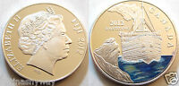 2012 TITANIC Silver Coin Commerative Uncirculated Colour Fiji Canada Medal Ship