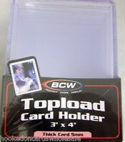 10 BCW 3 x 4 x 5mm Jersey Extra Thick Memorabilia Topload Card Holder 197 pt