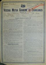 """Pubblicità WERBUNG -  AMELIA (TR) 1938 """" VECCHIA MUTUA GRANDINE ED EGUAGLIANZA"""""""